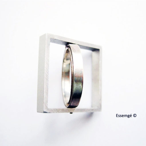 Graphic Edgy Squaring the Circle Ring