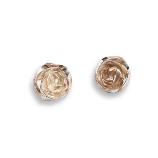 Romantic Rose Earrings Ear Studs - sterling silver