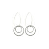 Graphic Collection - aluminium circle Russian Doll Earrings