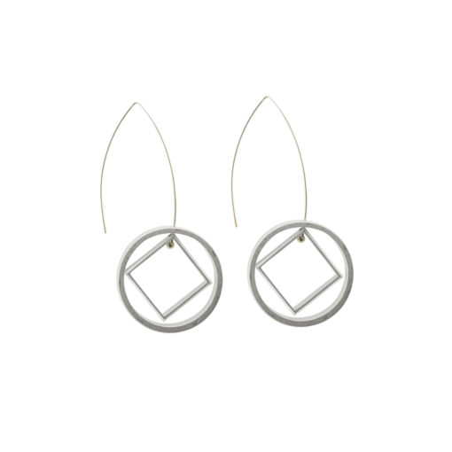 Graphic Collection - aluminium Ace of Diamonds Earrings
