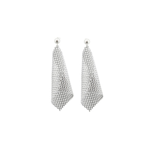 Graphic Collection - aluminium Cone Earrings