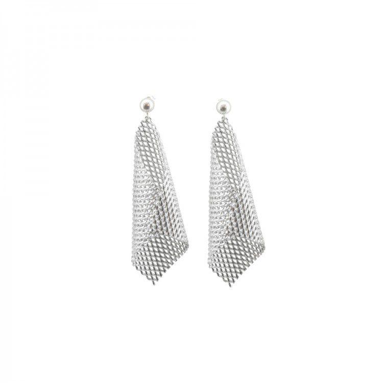 Graphic Cone Earrings in aluminium