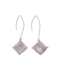 Mesh Humbug dangle earrings