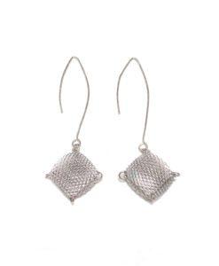 Mesh Humbug dangle earrings