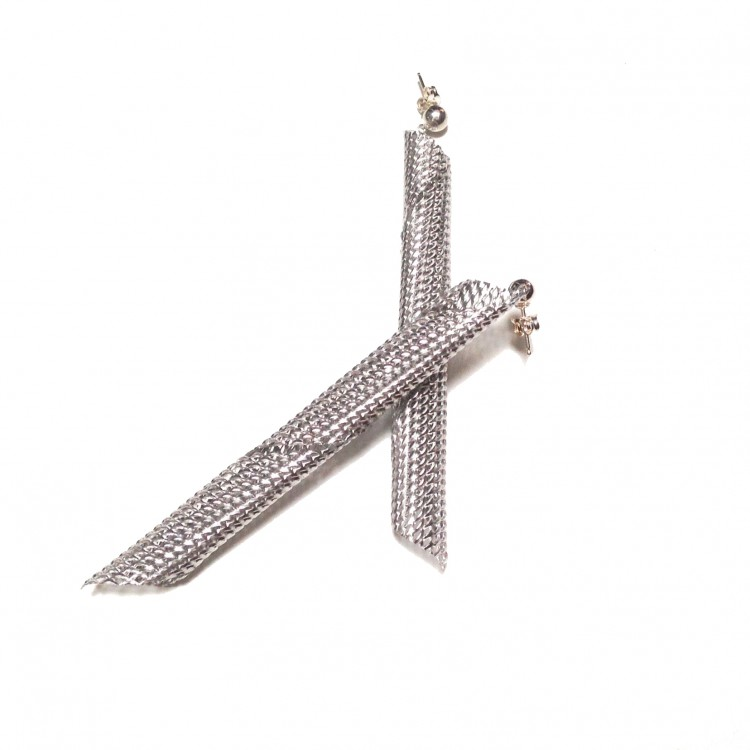 Graphic Collection - Skyscraper earrings in aluminium