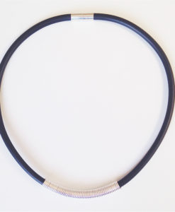 Drape Coil Single Row Necklace - black