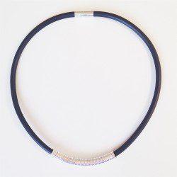 Drape Coil Single Row Necklace - black