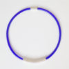 Drape Coil Single Row Necklace-blue