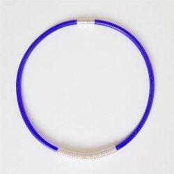 Drape Coil Single Row Necklace-blue