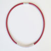 Drape Coil Single Row Necklace-red
