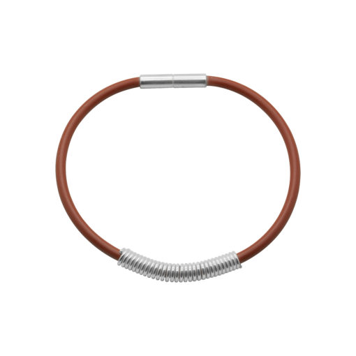 Drape Coil Dainty 3mm Single Row Bangle