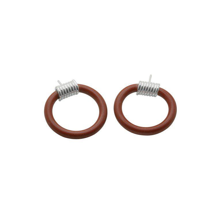 Drape Coil Dainty 3mm Single Loop Studs