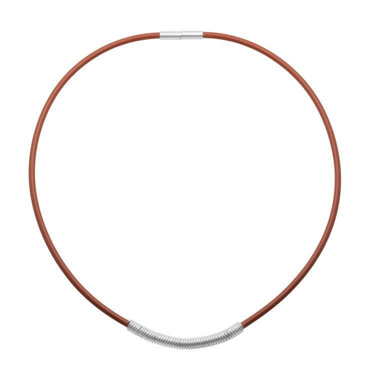 Drape Coil Dainty 3mm Single Row Necklace