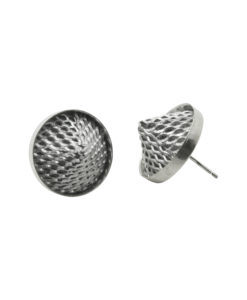 Mesh cone stud earrings