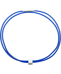 Graphic 3mm double necklace in blue