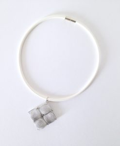 Mesh Quilted Pendant Necklace