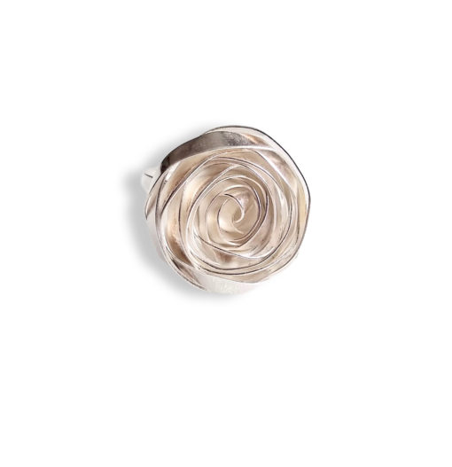 Romantic Rose Cocktail Ring - sterling silver