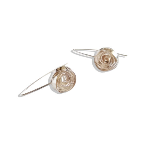 Romantic Rose Earrings - Dangles - sterling silver