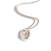 Romantic Rose Pendant Necklace - Medium - sterling silver