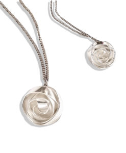 Romantic Rose Pendant Necklaces - Medium and Small - hand crafted in sterling silver