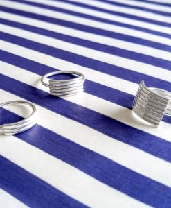 Spring Coil Striped Ribbed Rings selection