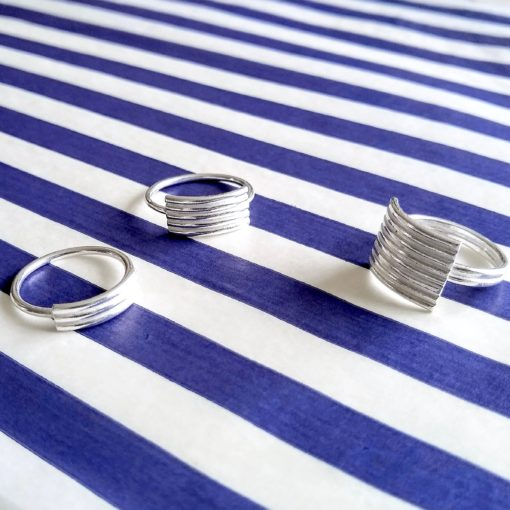 Striped Ribbed Rings selection
