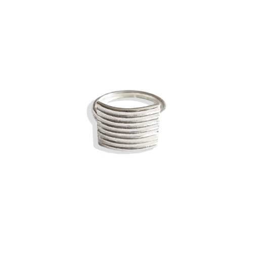 Striped Ribbed Textured Ring - Maxi variation