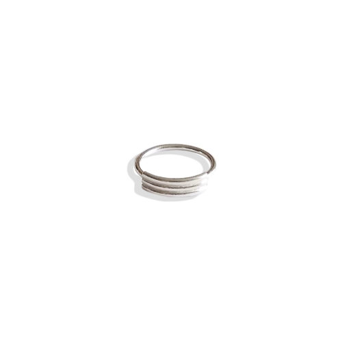 Spring Coil Striped Ribbed Ring - Dainty variation