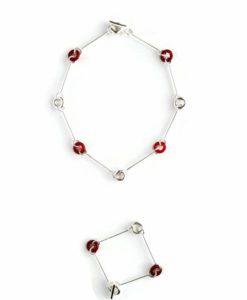 Cruise necklace - Silver and Burnt Orange Carnelian