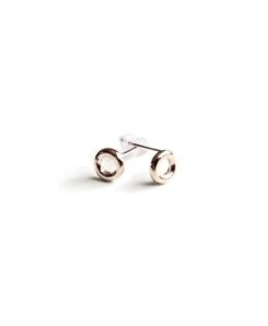 Mini Torus stud earrings - silver