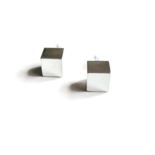 Cube Stud Earrings - Maxi