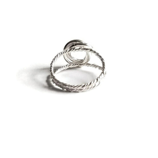 3-Circle Ring with Split Rope Shank