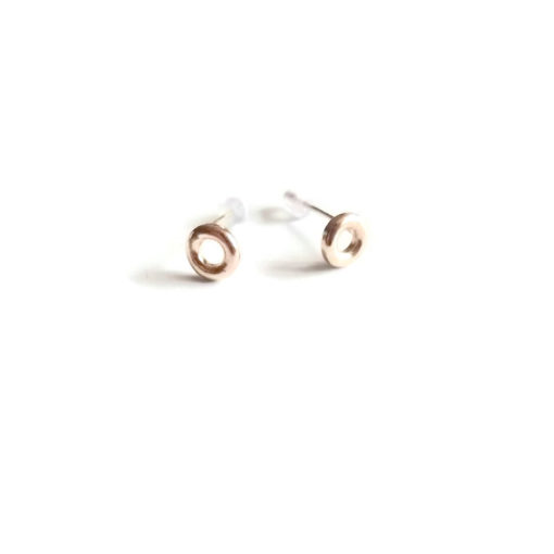 Mini Torus Stud Earrings - 9K Y