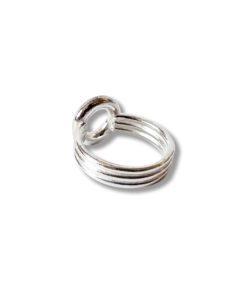 Silver Torus Ring - on white background