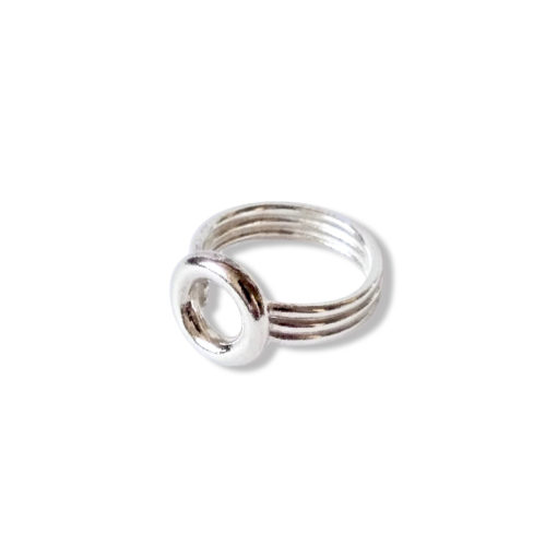 Silver Torus Ring - on white background