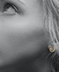 18k-Yellow-Gold-Nought-Stud-Earrings-on-model