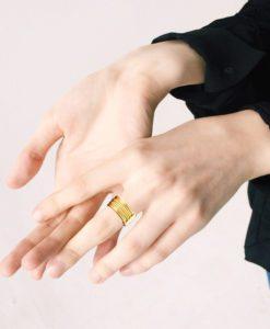 Gold-Semainier-Ring-on-model