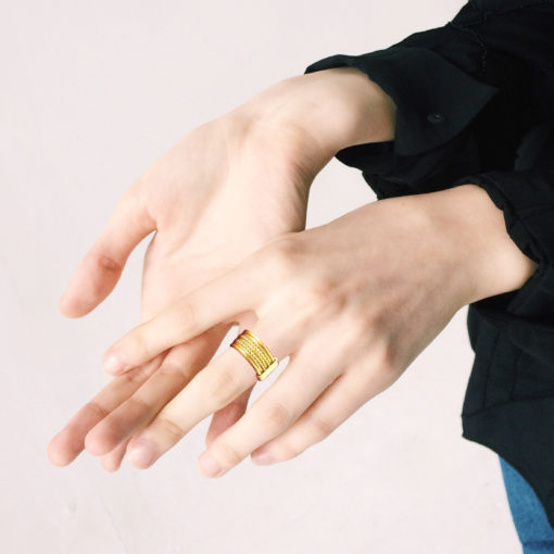 Gold-Semainier-Ring-on-model