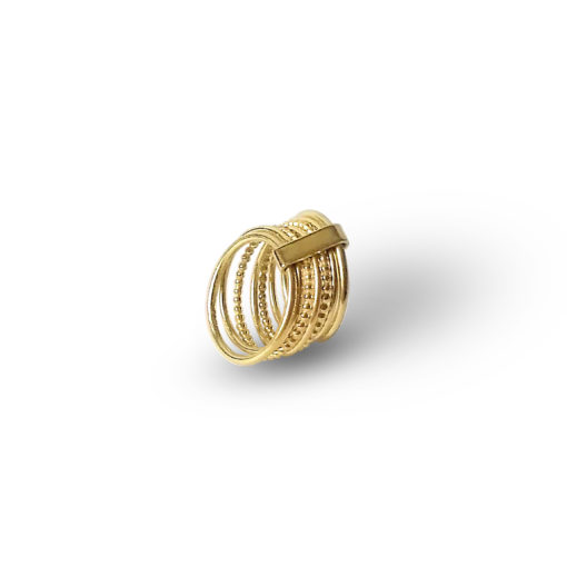 Gold-Semainier-Ring - on white background