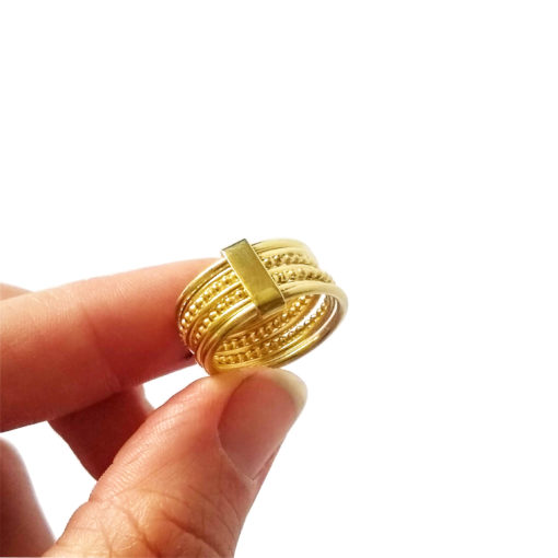Gold-Semainier-Ring - on white background