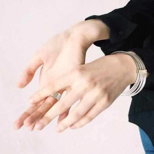 Silver-Semainier-Bracelet---on-model
