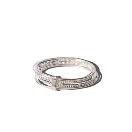 Silver-Semainier-Bracelet - on white background