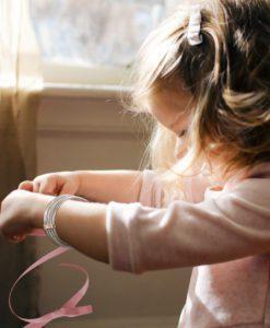 Silver Semainier Bracelet - on young girl
