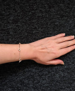 Mini Torus Silver Chain Bracelet - worn
